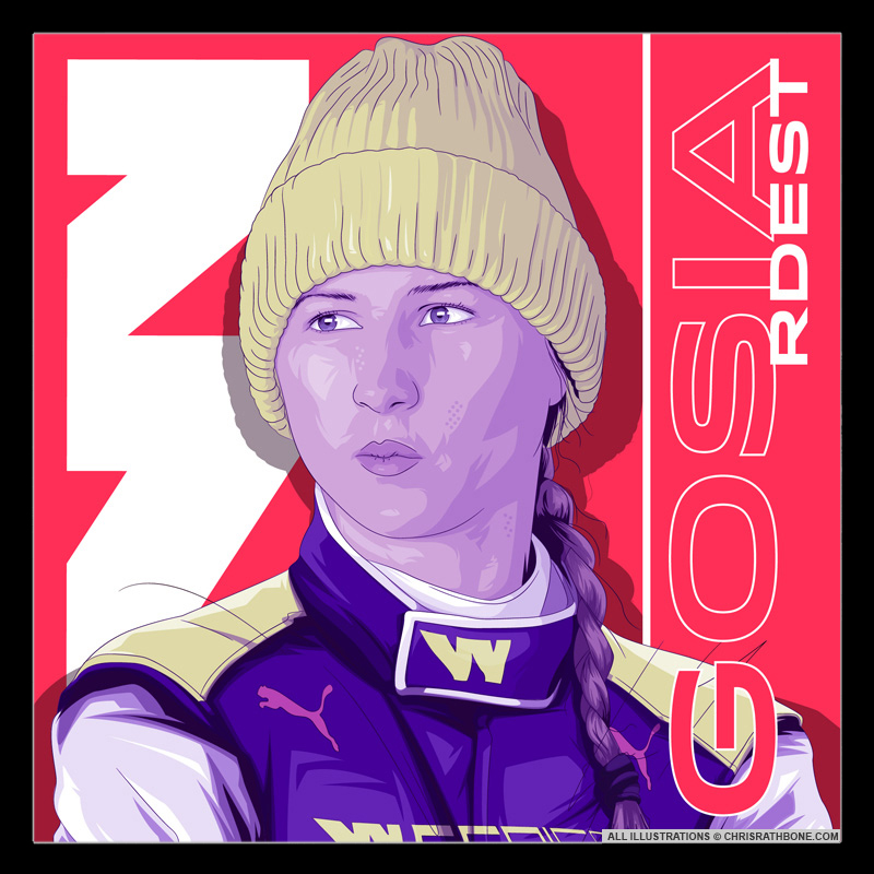 WSeries Portrait Illustrations by Chris Rathbone