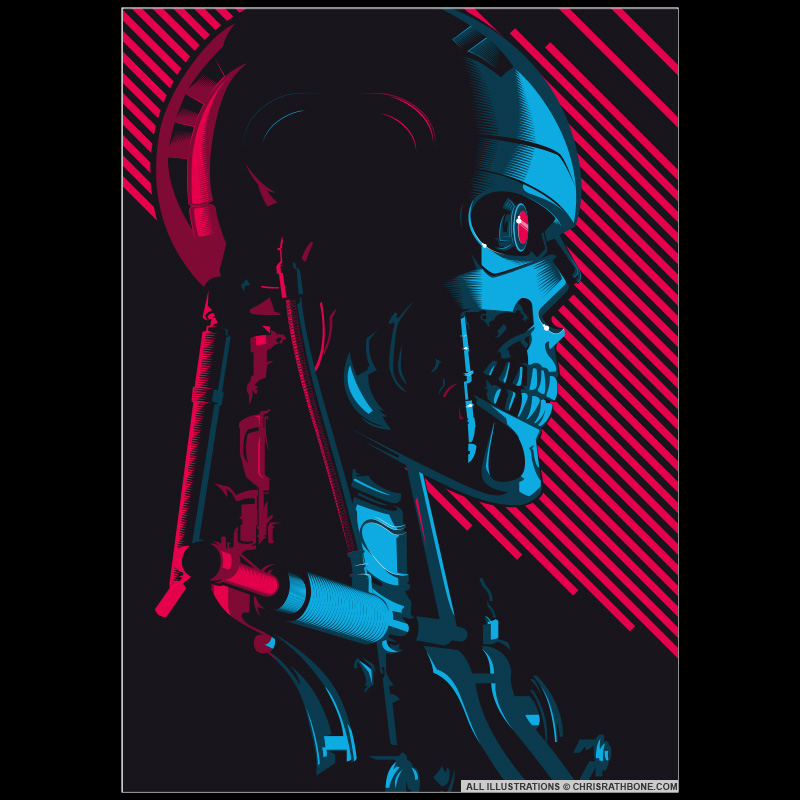 Terminator Movie Poster Illustration by Chris Rathbone