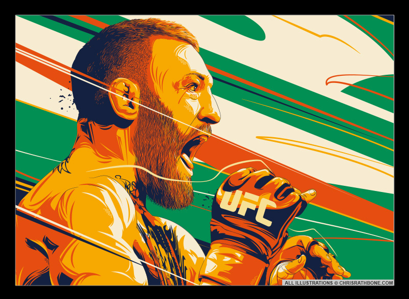 Conor McGregor Illustration by Chris Rathbone