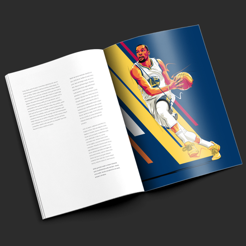 Kevin Durant illustration by Chris Rathbone