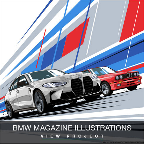 BMW M2 Illustration by Chris Rathbone