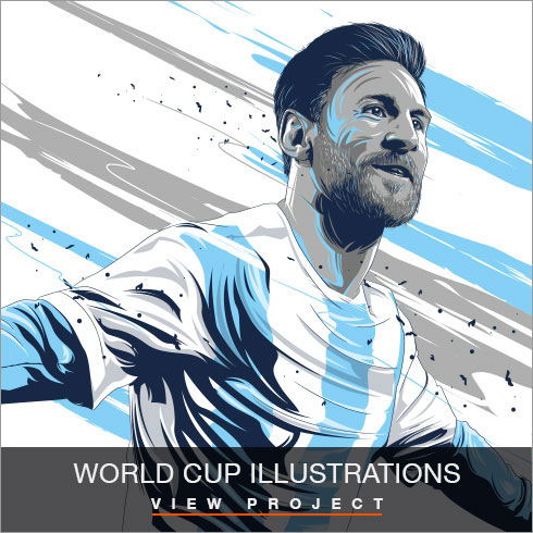 World Cup Player Illustrations by Chris Rathbone