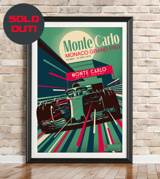 Monaco GP F1 print by Chris Rathbone