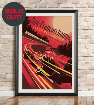 Belgian GP Race Poster by Chris Rathbone