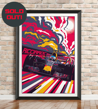 Valterri Bottas F1 poster by Chris Rathbone
