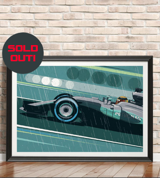 Lewis Hamilton F1 print by Chris Rathbone
