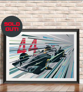 Lewis Hamilton F1 Poster by Chris Rathbone