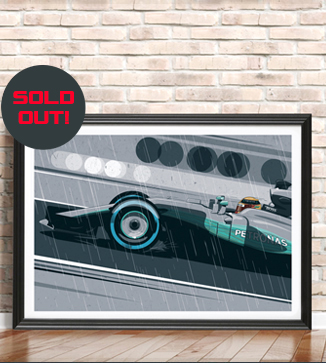 Lewis Hamilton Variant Poster by Chris Rathbone
