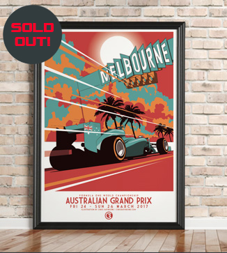 Australia GP F1 print by Chris Rathbone