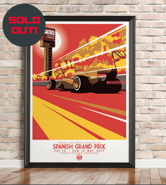 Spanish GP F1 print by Chris Rathbone