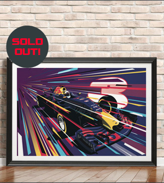 Daniel Ricciardo Race poster by Chris Rathbone